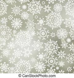 snowflakes., modèle, 8, seamless, eps