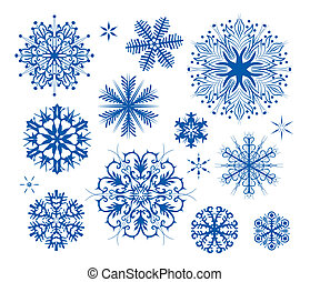 snowflakes, natal, ícone, collectio