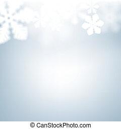 snowflakes., navidad, plano de fondo, defocused