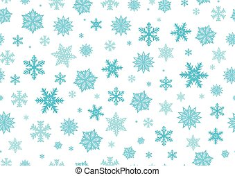 Snowflakes, New year background. Seamless pattern. Vector illustration