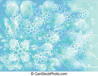 Snowflakes on a blue background. EPS10 vector illustration
