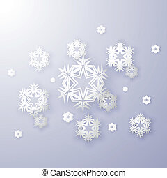 snowflakes on a blue background vector