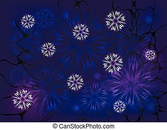 Snowflakes on a night background. EPS10 vector illustration