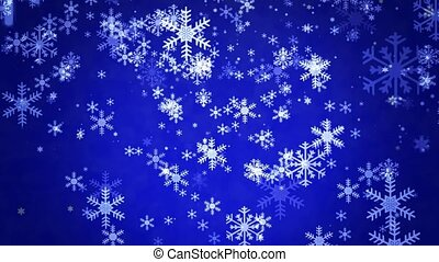 Snowflakes on blue background
