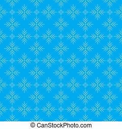 Snowflakes on blue sky