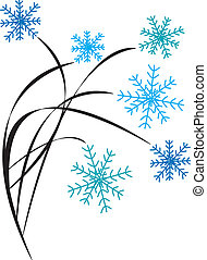 Snowflakes on Branches