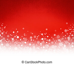 Snowflakes on Christmas red background