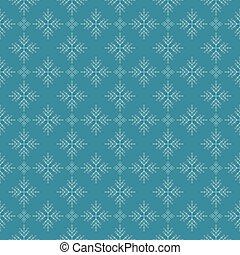 Snowflakes on dark blue sky