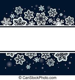 Snowflakes on dark Christmas background