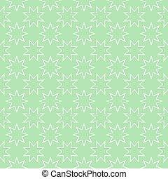 Snowflakes on green sky
