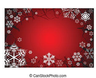 Snowflakes on grunge background