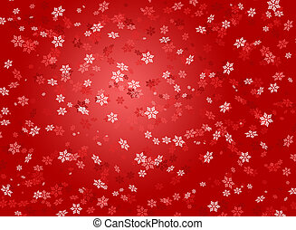 Snowflakes on rde background