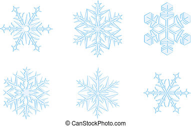 snowflakes, ornate