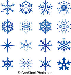 Snowflakes Part  - Blue Snowflakes isolated