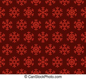 Snowflakes Red Background with Seamless Pattern. Vector