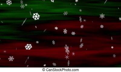 Snowflakes Red-Green Loop