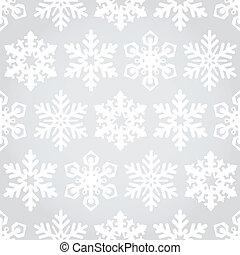 Snowflakes seamless pattern background - Vector snowflakes...