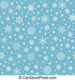 Snowflakes seamless pattern. Winter snow flake stars, falling flakes snows and snowed snowfall vector background