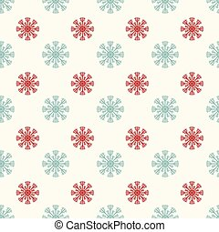 Snowflakes seamless vector pattern.