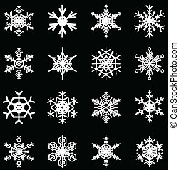 snowflakes illustrations, for christmas themed design elements.