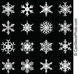snowflakes set - snowflakes illustrations, for christmas ...
