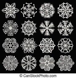 snowflakes., set