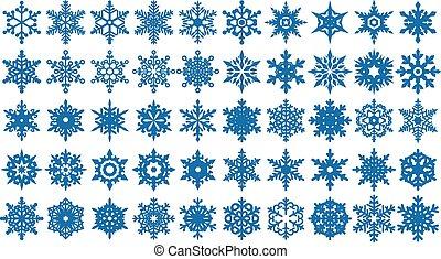 Snowflakes Shapes Set 2