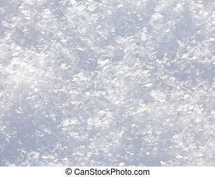 Snowflakes snow surface