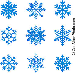 Snowflakes. - Snowflakes icon collection. Vector shape.