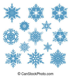 snowflakes of different shapes