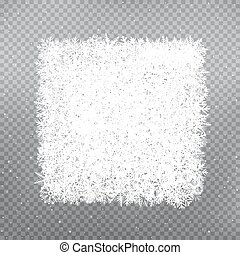 snowflakes square frame template