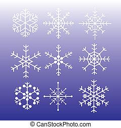 snowflakes styles eps10
