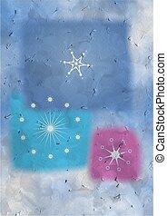 snowflakes, textured