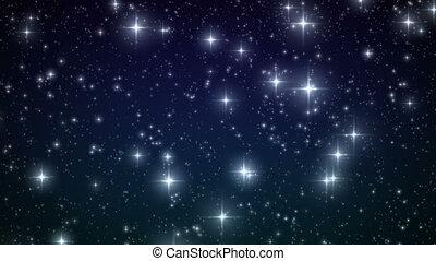 snowflakes., tomber, aimer, étoiles, boucle
