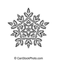 snowflakes., vecteur, grunge, illustration.