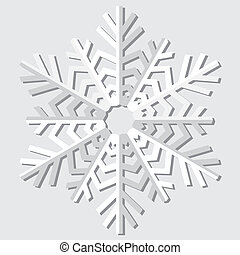 snowflakes., vecteur, illustration.