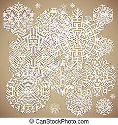 snowflakes., vecteur, illustration