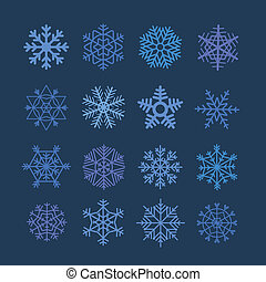 Snowflakes vector collection