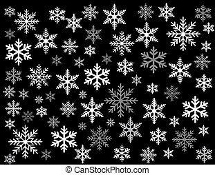 snowflakes vector illustration art