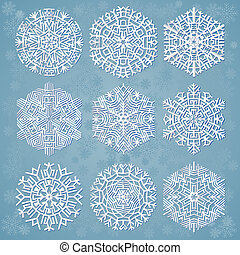 snowflakes, vector illustration