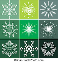 Snowflakes vector set