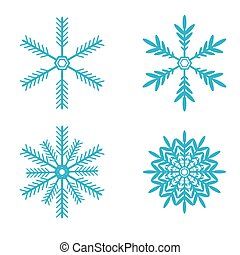 Snowflakes vector set. snow flake icon