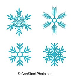 Snowflakes vector set. snow flake icon