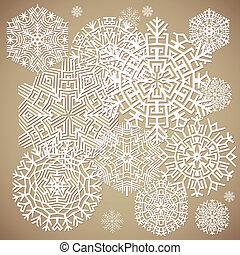 snowflakes., vektor, ábra
