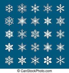 snowflakes., vektor, sammlung