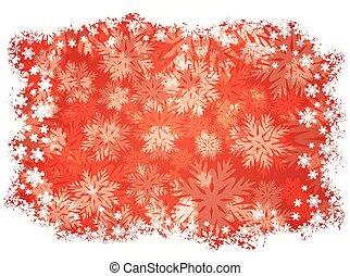 snowflakes, vetorial, fundo, inverno, ilustração