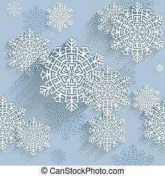 snowflakes, vetorial, ilustração