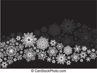 snowflakes wave background