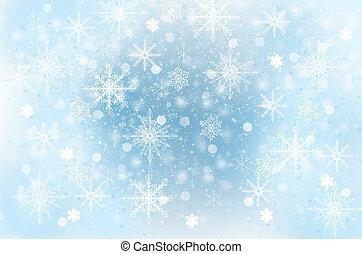 Snowflakes - winter background