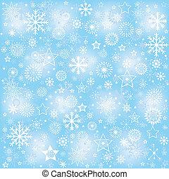 Snowflakes, winter background